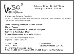 WSO concert 14 May 2016