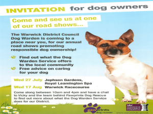 Dog Warden event July August