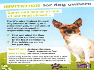 Dog Warden event July August